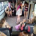 Hens party on Clydes Party Bus